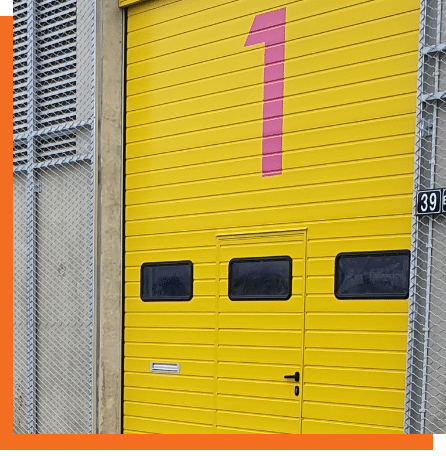 Installation de portes industrielles
